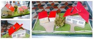 modello casa alimentata ad energia solare