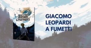 Copertina del fumetto sulla vita di Giacomo Leopardi